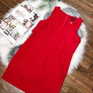 Forever 21 Red Holiday Sheath Overlay Dress Sz 1x